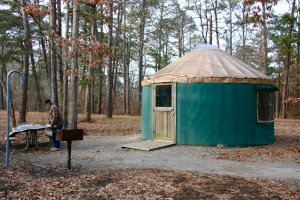 Yurt in Belleplain State Forest