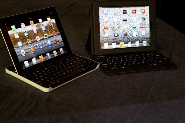 iPad 2 and New iPad 3 with Kensington and Logitech Keyboards
