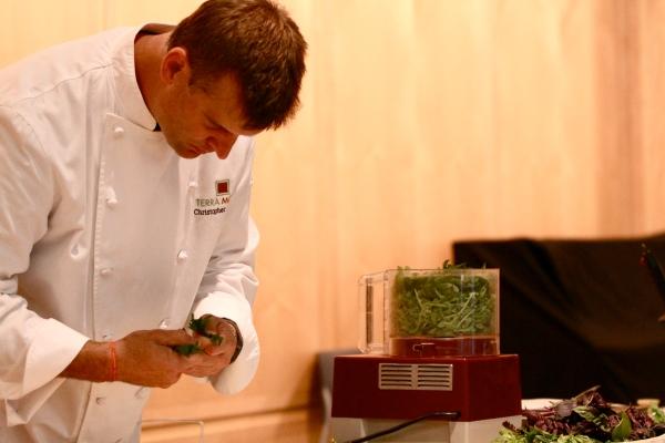 Chef Chris Albrecht of Eno Terra