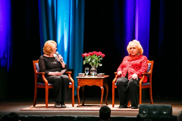 Doris Roberts and Debbie Mazella at State Theatre for SmartTalk