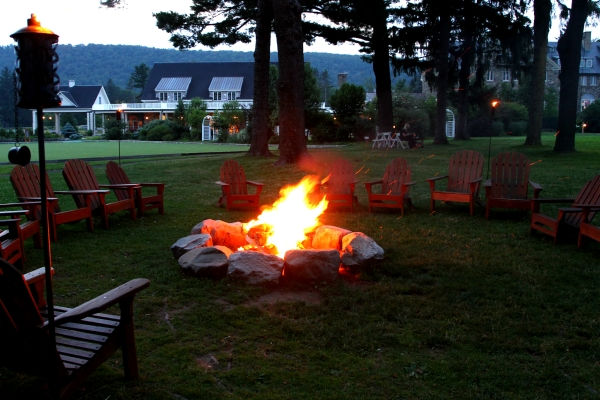Campfire at Skytop Lodge