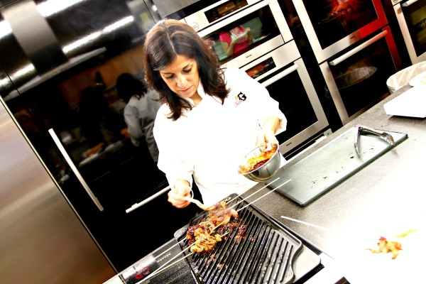 Mrs Gs Appliance Chef Mary Beth Madill Cooking Beef Kebabs