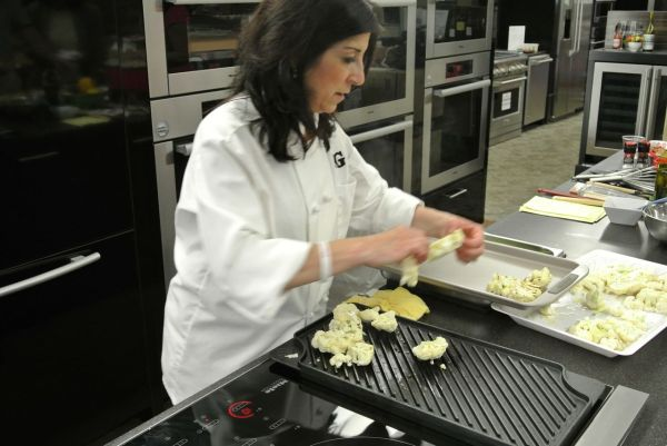 Appliance Chef Mary Beth Madill Cooking Cauliflower at Mrs Gs