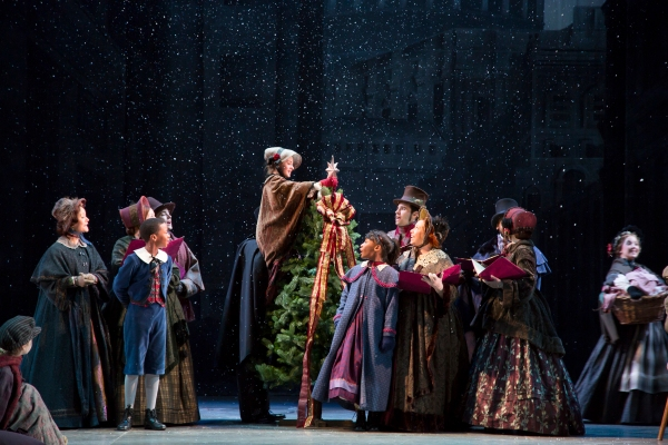 Ensemble from A Christmas Carol at the McCarter Theatre