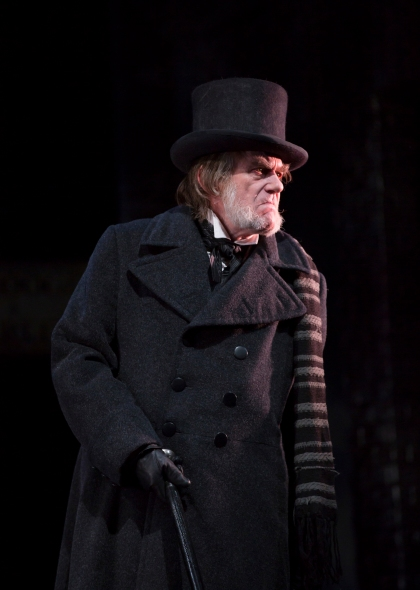 Graeme Malcolm as Scrooge in A Christmas Carol at McCarter Theatre