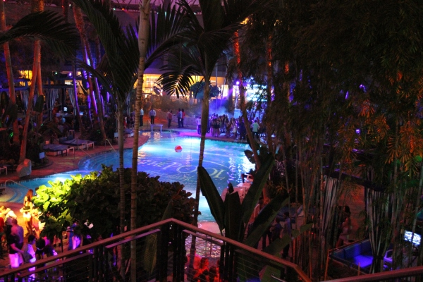 The Pool After Dark at Harrah's Resort in Atlantic City