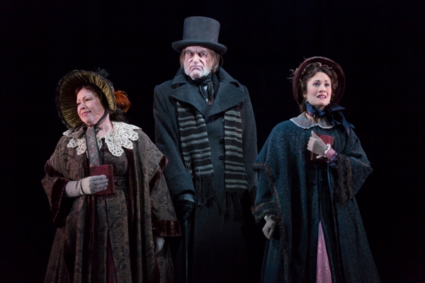 Michele Tauber, Graeme Malcolm, and Ali Ewoldt. A Christmas Carol at McCarter Theatre with Ebeneezer Scrooge