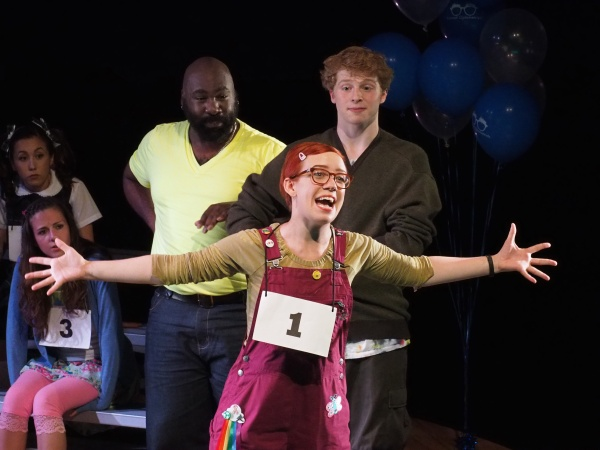 The 25th Annual Putnam County Spelling Bee - Princeton Festival - Jerrial Young as Mitch Mahoney, Jamie Green as Leaf Coney Bear, and Amanda Berry as Schwartzand Grubbeniere